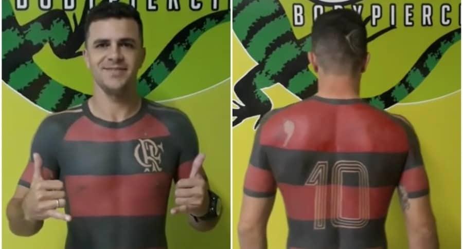 Photo of Es tan fiel hincha, que se tatuó la camiseta de su equipo…